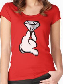 Diamond Hand Women's Fitted Scoop T-Shirt