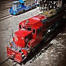Trains in McLoud, Oklahoma by Scott Hawkins