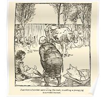 Hansel & Grethel & Other Tales by Grimm Wilelm and Jacob art by Arthur Rackham 0037 A Butcher Poster