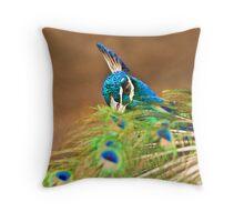 feathered veil Throw Pillow
