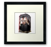 Doctor Who 3D TARDIS  Framed Print