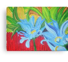flower on a fence Canvas Print