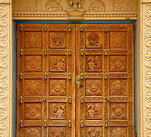 Lemont Hindu Temple Doors by JCBimages