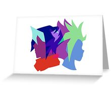 Arc V Ship Silhouette- Yuto/Shun Greeting Card