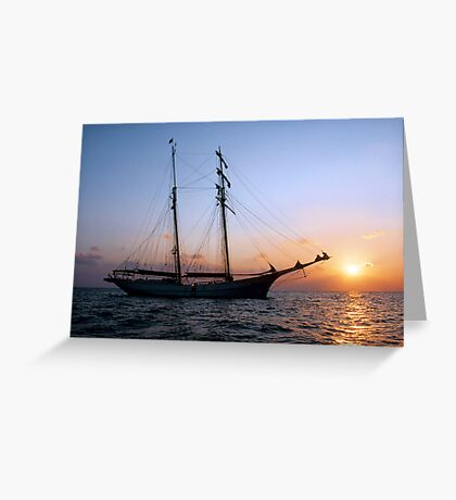 "Sailing: Schoner ""Sir Robert"" IV - www.sir-robert.com Greeting Card"