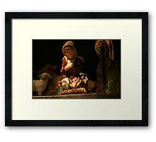 Baby Jesus in a Manger... Framed Print