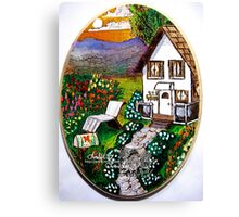 Lil country home Canvas Print
