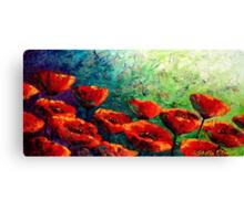 The Poppy Burst Canvas Print