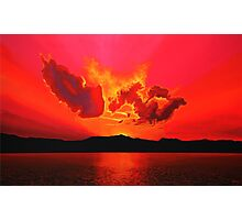 Earth Sunset Photographic Print