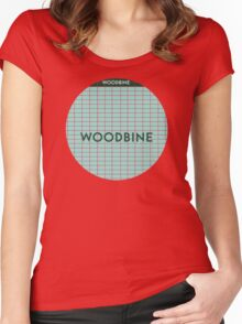 WOODBINE Subway Station Women's Fitted Scoop T-Shirt