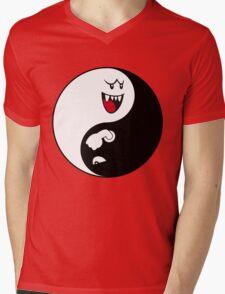 Boo/Bullet Bill Yin Yang Mens V-Neck T-Shirt