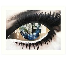 Eye with New York City Reflection Art Print