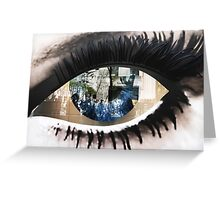 Eye with New York City Reflection Greeting Card