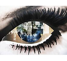 Eye with New York City Reflection Photographic Print
