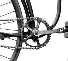 Old Bicycle Pedal Sprocket and Chain by GeometryOfColor