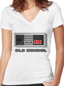 NES - Nintendo Entertainment System  Women's Fitted V-Neck T-Shirt