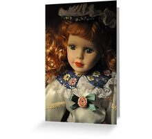 A red-haired beauty Greeting Card