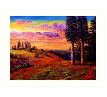 Evening in Tuscany Art Print