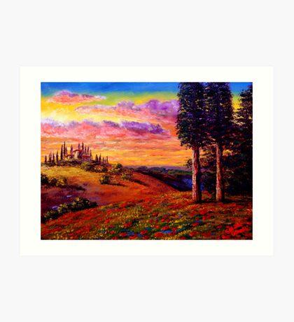 Evening in Tuscany Art Print