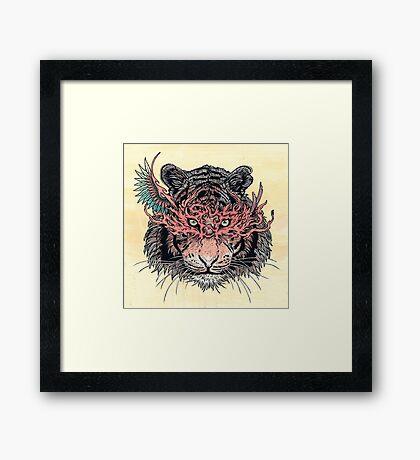 Masked Tiger Framed Print
