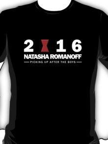 Natasha Romanoff for President T-Shirt