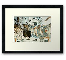 dry creek bed - Maranoa Framed Print