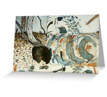 dry creek bed - Maranoa Greeting Card