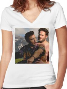 James Franco & Seth Rogen Women's Fitted V-Neck T-Shirt