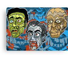 Frankenstein! Dracula! The Mummy! Canvas Print