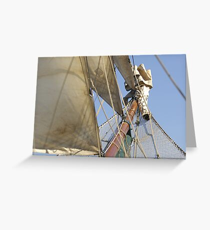 "Sailing: Schoner ""Sir Robert"" VII - www.sir-robert.com Greeting Card"