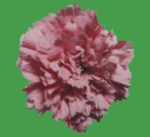 Single Pink Carnation - Hipster/Pretty/Trendy Flowers Kids Tee