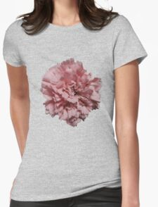 Single Pink Carnation - Hipster/Pretty/Trendy Flowers Womens Fitted T-Shirt