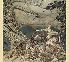 The Rhinegold & The Valkyrie by Richard Wagner art Arthur Rackham 1910 0215 Fricka Approaches in Anger by wetdryvac