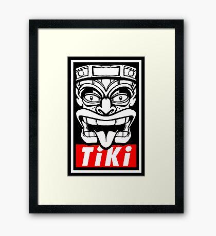Obey The Tiki Framed Print