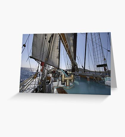 "Sailing: Schoner ""Sir Robert"" XI - www.sir-robert.com Greeting Card"