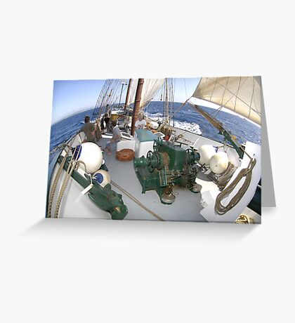 "Sailing: Schoner ""Sir Robert"" XII - www.sir-robert.com Greeting Card"