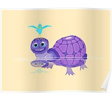 The Purple Turtle And A Bluebird Of Glee Poster