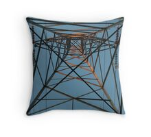 electrical tower Throw Pillow