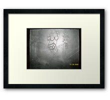 sculpture etchings Framed Print