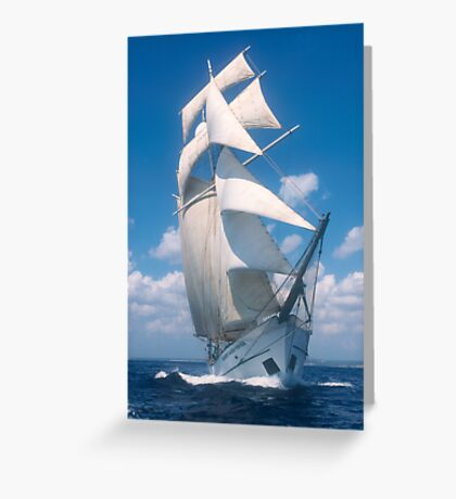"Sailing: Schoner ""Sir Robert"" 3 - www.sir-robert.com Greeting Card"