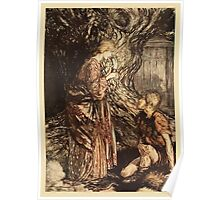 The Rhinegold & The Valkyrie by Richard Wagner art Arthur Rackham 1910 0171 This Healing and Honeyed Draught of Mead Poster