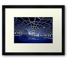 Webb Bridge Blue  Framed Print