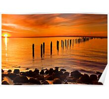 Sunset At The Springs - Clifton Springs Poster