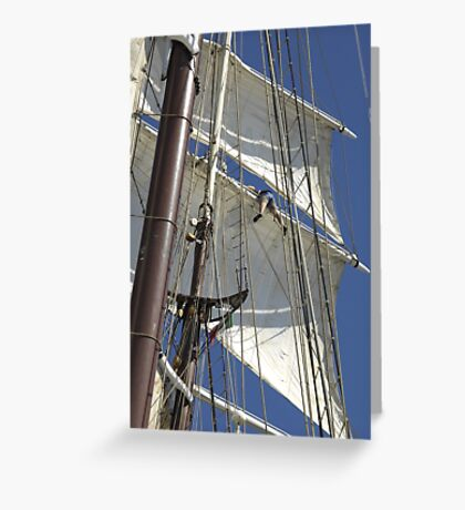 "Sailing: Clipper ""Sir Robert"" 5 - www.sir-robert.com Greeting Card"