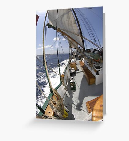 "Sailing: Clipper ""Sir Robert"" 6 - www.sir-robert.com Greeting Card"