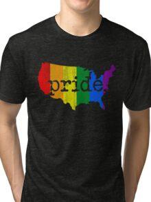 AMERICA USA GAY MARRIAGE PRIDE MAP VINTAGE Tri-blend T-Shirt