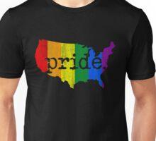 AMERICA USA GAY MARRIAGE PRIDE MAP VINTAGE Unisex T-Shirt