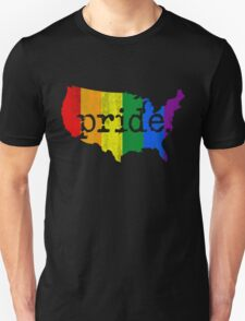 AMERICA USA GAY MARRIAGE PRIDE MAP VINTAGE T-Shirt