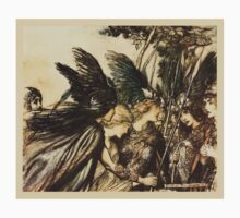The Rhinegold & The Valkyrie by Richard Wagner art Arthur Rackham 1910 0269 Sisters, Your Help One Piece - Short Sleeve