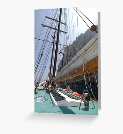 "Sailing: Clipper ""Sir Robert"" 8 - www.sir-robert.com Greeting Card"
